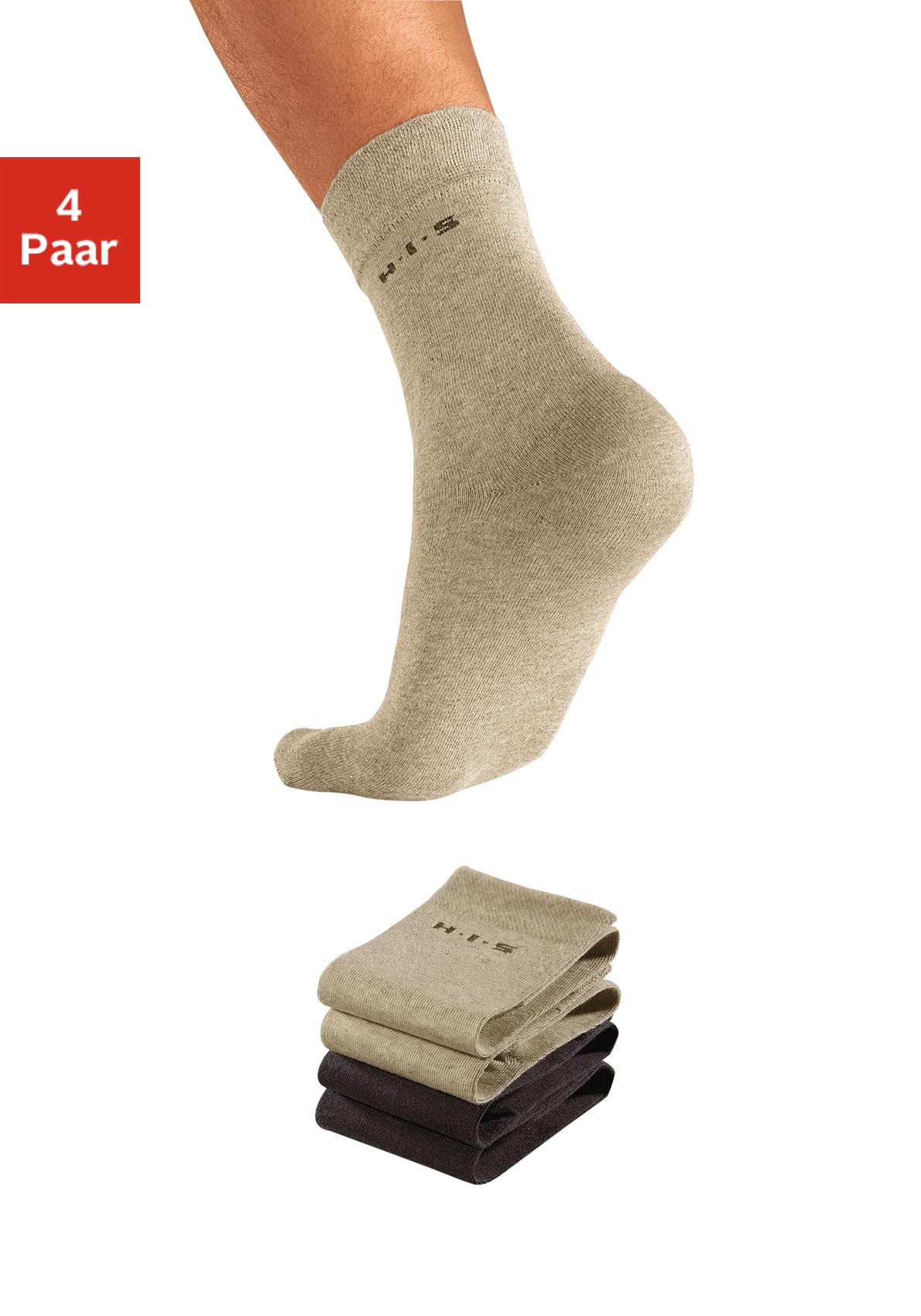H.I.S Socken (4 Paar) mit druckfreiem Bündchen