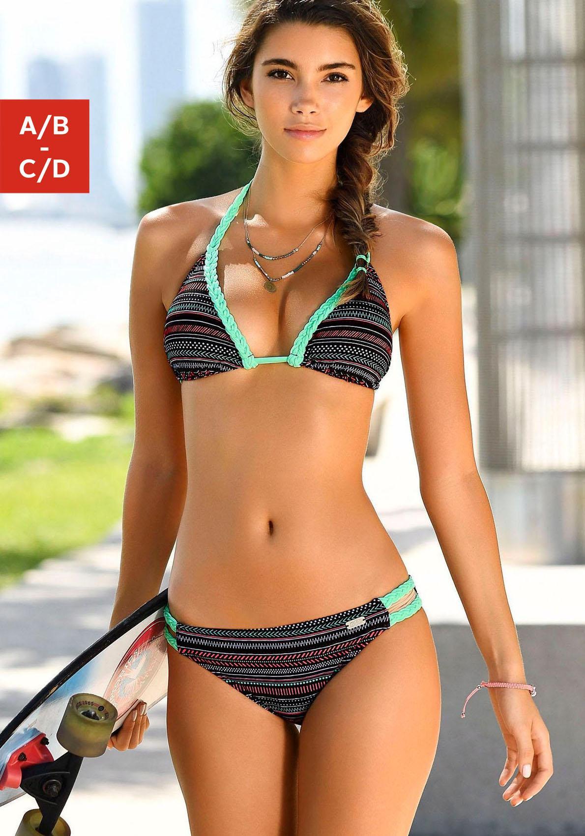 Buffalo Triangel-Bikini mit geflochtenem Detail in Kontrastfarbe