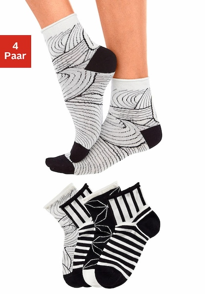 TOM TAILOR Kurzsocken (4 Paar)