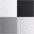 grau-meliert + grau + schwarz + weiß