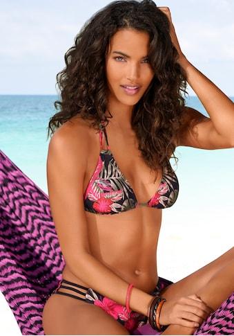 LASCANA Triangel-Bikini-Top »Elsa«, mit floralem Druck