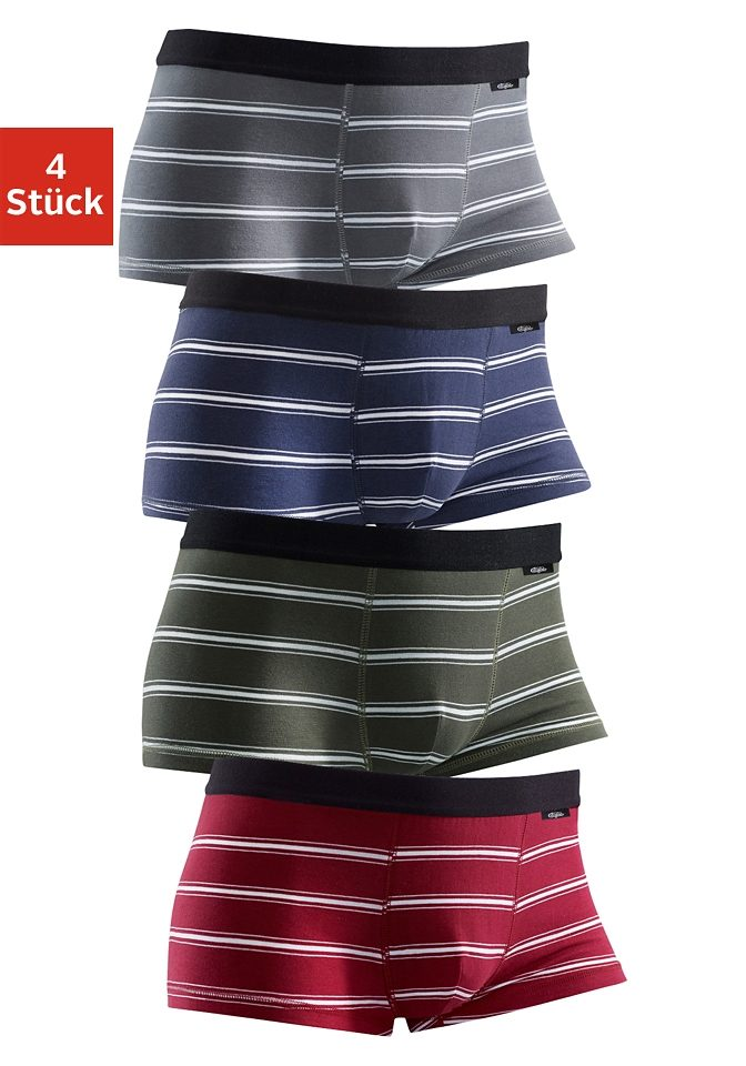 olivgrün-gestreift + blau-gestreift + bordeaux-gestreift + grau-gestreift