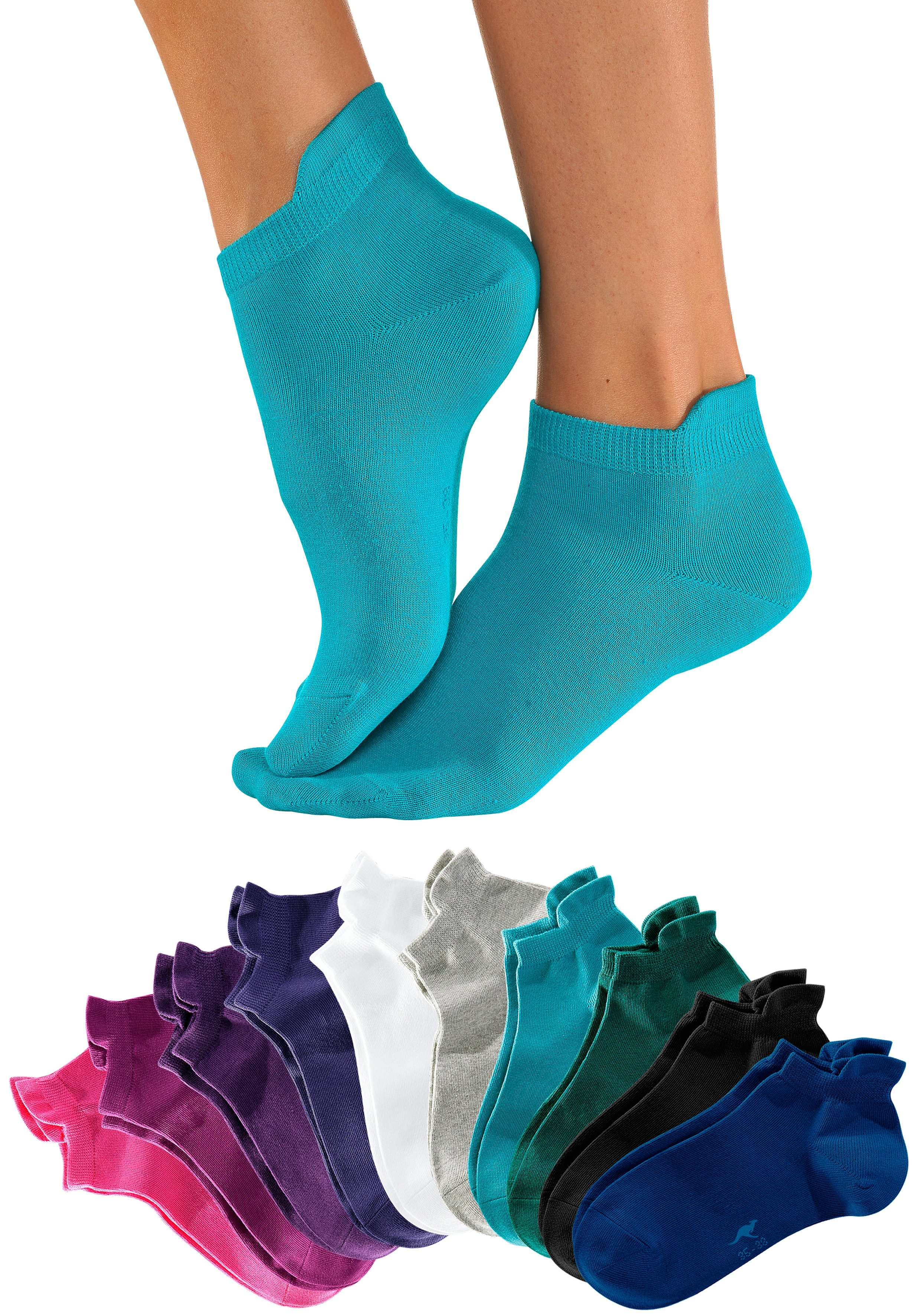 KangaROOS Sneakersocken (10 Paar) mit erhöhtem Bündchen