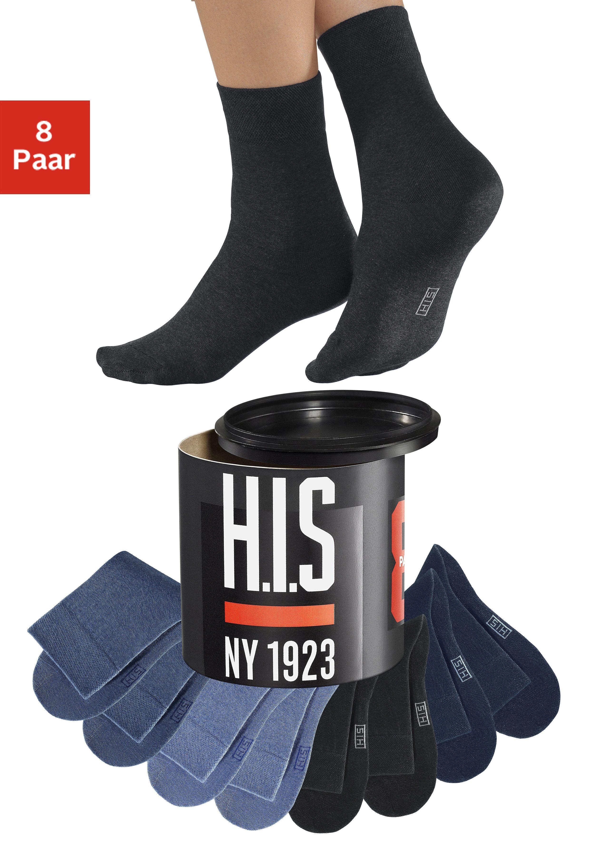 H.I.S Socken (Dose, 8 Paar)