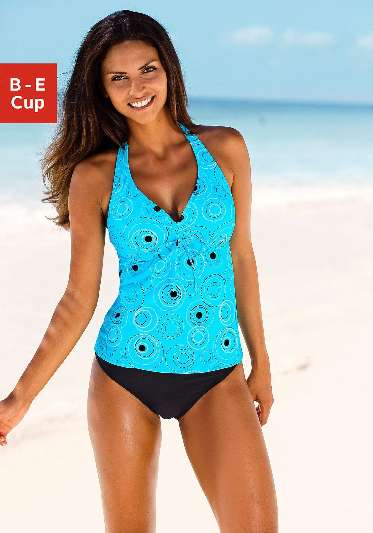 s.Oliver RED LABEL Beachwear Bügel-Tankini mit schönem Druckdesign