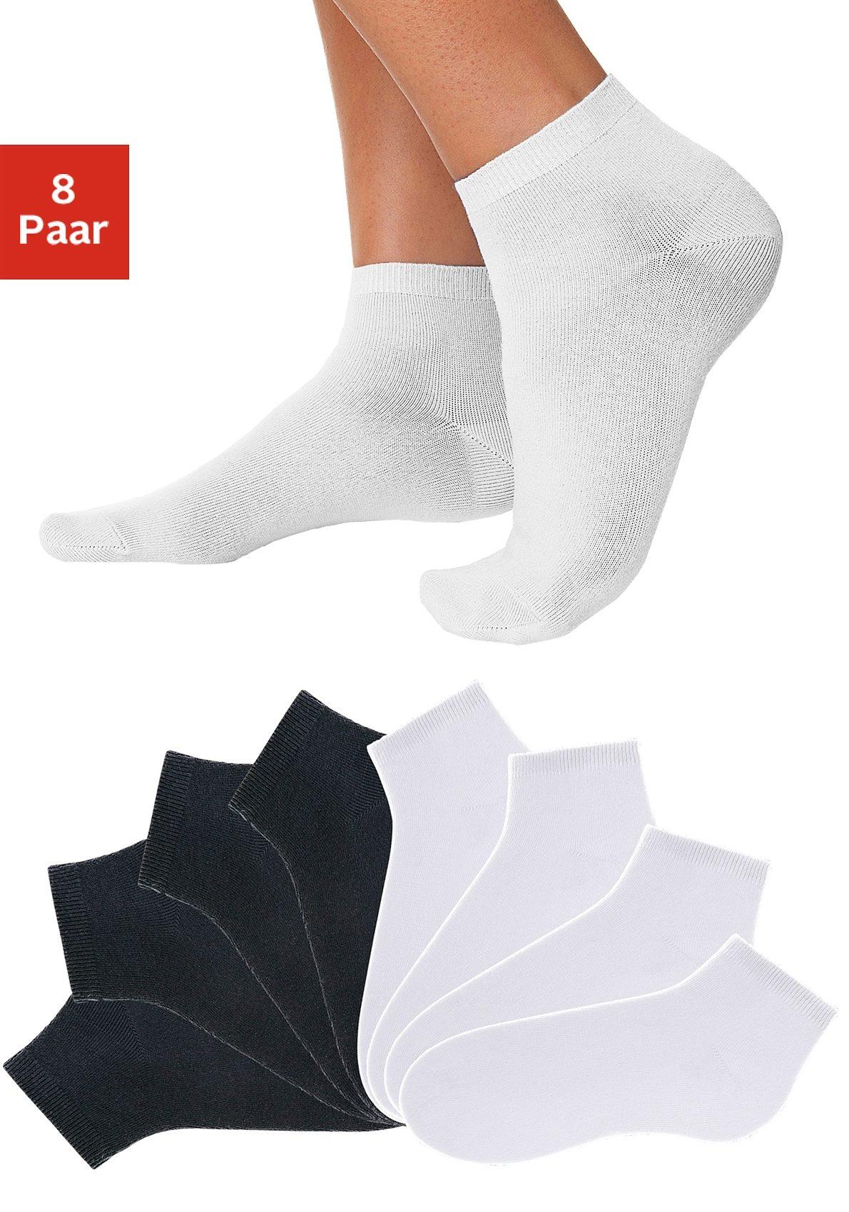 GO IN Kurzsocken (8 Paar) in verschiedenen Unifarben