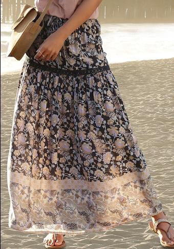 LASCANA Maxirock, mit Bordürenprint