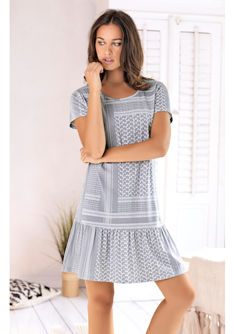s.Oliver Nachthemd, mit Pashmina-Druckmuster
