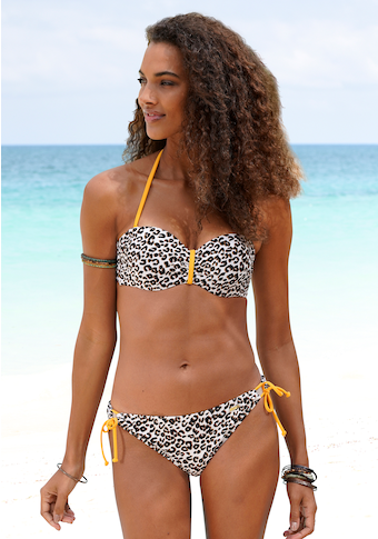 Buffalo Bügel-Bandeau-Bikini-Top »Kitty«, mit Animalprint und kontrastfarbenen Details