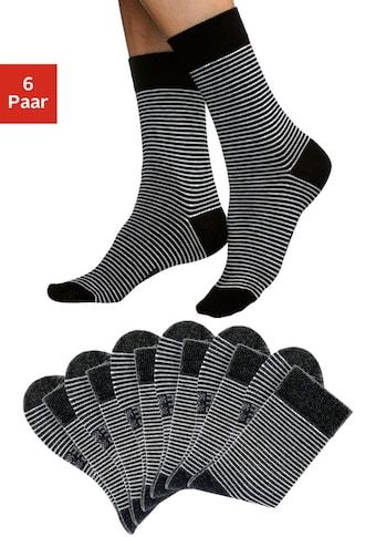 H.I.S Socken, (6 Paar), mit druckfreiem Bündchen