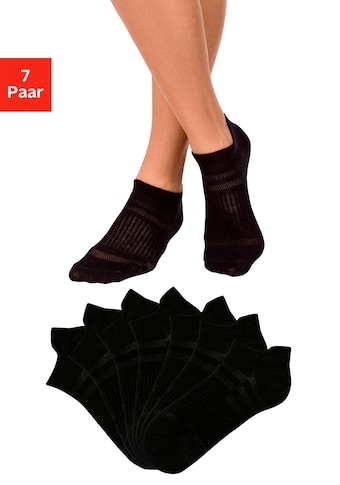 LASCANA ACTIVE Sneakersocken, (7 Paar), in Piqué-Optik