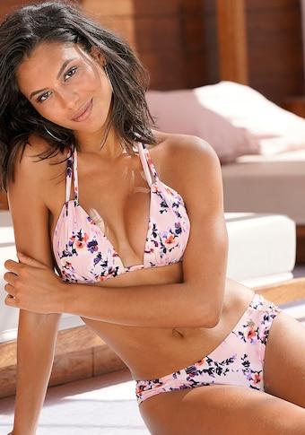 LASCANA Triangel-Bikini, mit geraffter Optik