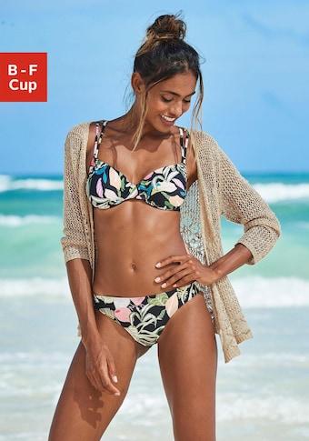 s.Oliver Beachwear Bügel-Bikini-Top »Herbst«, mit herausnehmbaren Cups