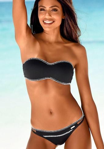 Sunseeker Bikini-Hose »Dainty«, in knapper Brasilien-Form und mit Häkelkante