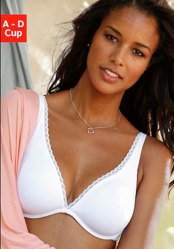 LASCANA T-Shirt-BH »perfect basic«, mit High Apex und Bügel