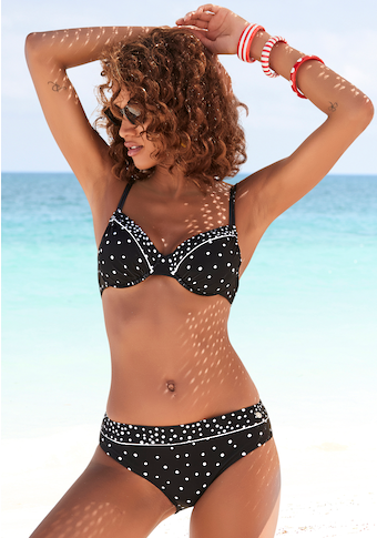 LASCANA Bikini-Hose »Leona«, mit Pünktchenprint