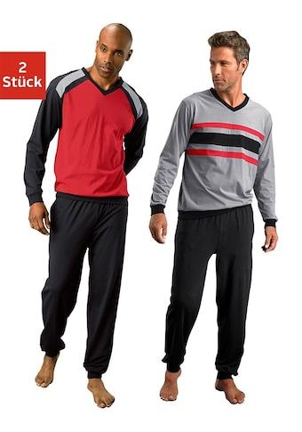 le jogger® Pyjama, (2 Stück), in langer Form