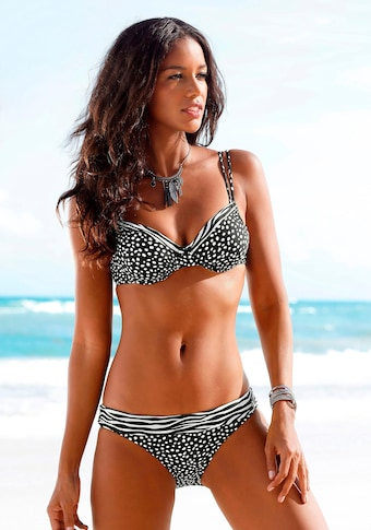 LASCANA Bügel-Bikini-Top »Safari«, mit herausnehmbaren Cups
