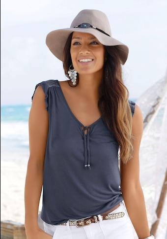 Buffalo Strandshirt, mit Spitzeneinsatz am Rücken