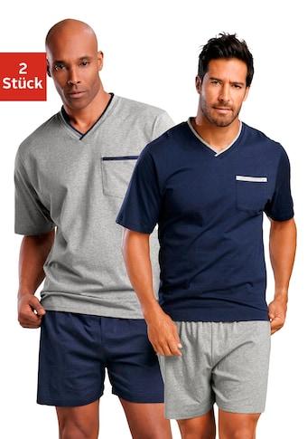 le jogger® Shorty, (2 Stück), mit Brusttasche