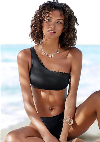 LASCANA Bustier-Bikini-Top »Scallop«, in One-Shoulder-Form