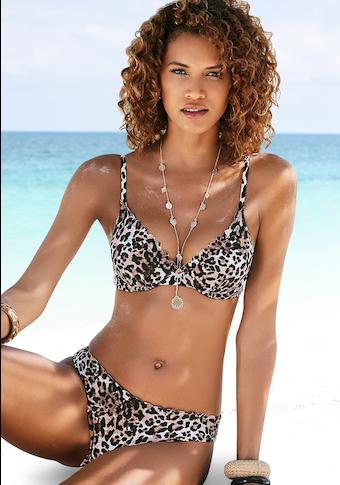 LASCANA Bügel-Bikini-Top »Lexa«, mit Wattierung und Muschelkante