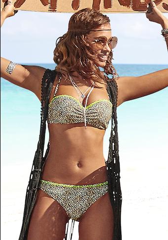 Buffalo Bügel-Bandeau-Bikini, mit neonfarbiger Ziernaht