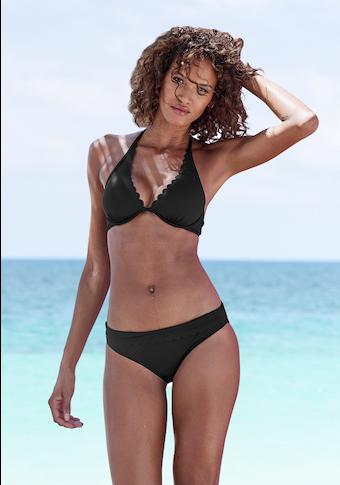 LASCANA Bügel-Bikini-Top »Scallop«, mit gelaserter Wellenkannte