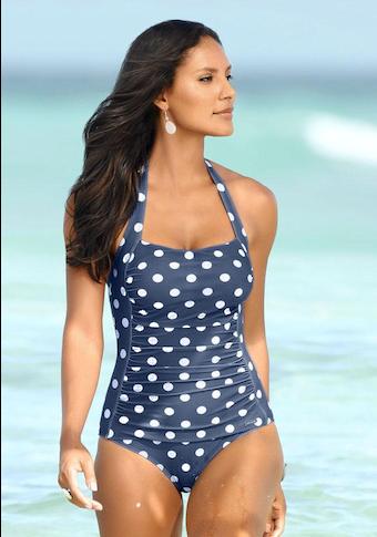LASCANA Badeanzug, im Punkte-Design mit Shaping-Effekt