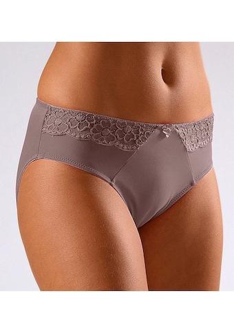 LASCANA Slip, mit seitlichen Spitzeneinsätzen