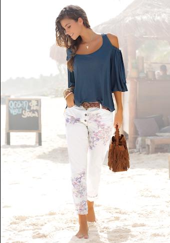 LASCANA Strandhose, mit schmalem Bein