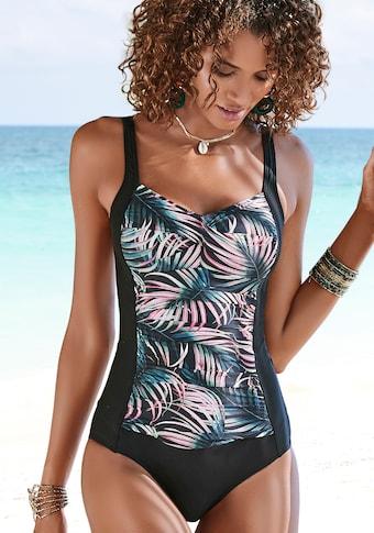 LASCANA Badeanzug »Reese«, mit Palmendruck und Shaping-Effekt