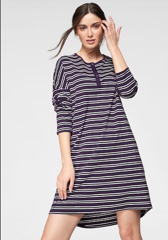 seidensticker Nachthemd, im Streifen-Design mit überschnittenen Schultern
