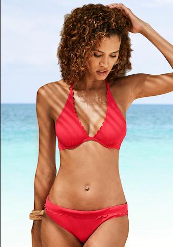 LASCANA Bügel-Bikini-Top »Scallop«