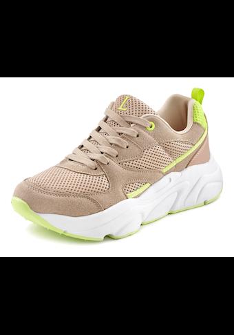 LASCANA Sneaker, mit leichter Chunky-Sohle und herausnehmbarer Innensohle