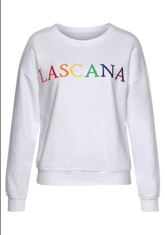 LASCANA Sweatshirt, mit Logo-Stickerei