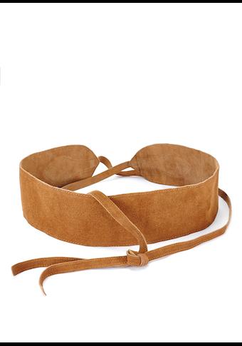 LASCANA Taillengürtel, aus weichem Veloursleder zum Binden