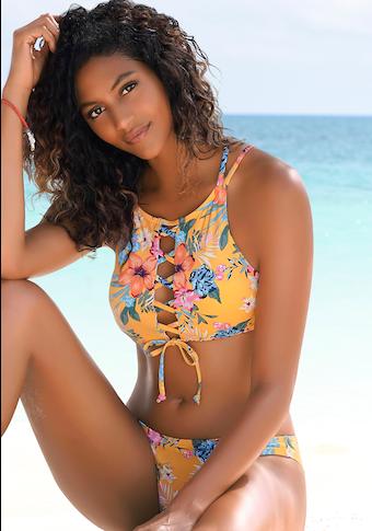 Bench. Bustier-Bikini-Top »Maui«, mit modischer Schnürung