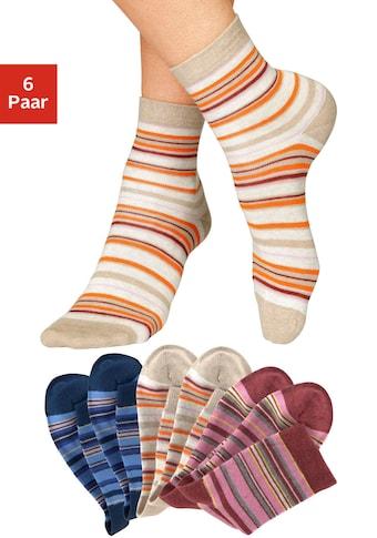 H.I.S Socken, (6 Paar), mit Ringeln
