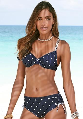 s.Oliver Beachwear Bügel-Bikini-Top »Audrey«, im Punkte und Streifen Mix