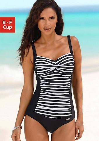 LASCANA Badeanzug, mit Streifendruck und Shaping-Effekt