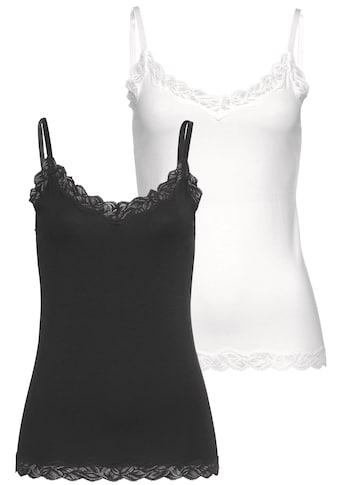 LASCANA Unterhemd, 2 Stück
