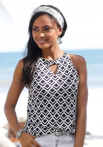 LASCANA Strandtop, in leichter A-Form