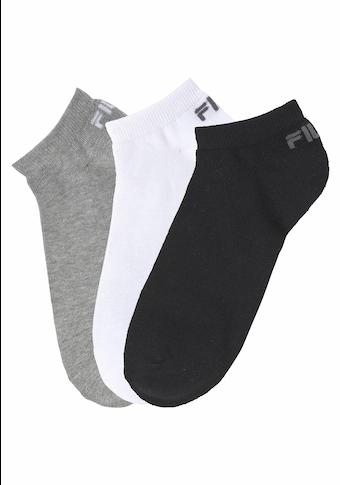 Fila Sneakersocken, (3 Paar), mit eingestricktem Logo an der Ferse