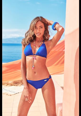LASCANA Triangel-Bikini-Top »Rainbow Collection«, mit goldenen Zierringen