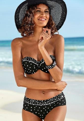 LASCANA Bügel-Bandeau-Bikini-Top »Leona«, mit Pünktchenprint