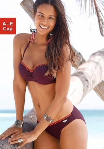 Buffalo Bügel-Bandeau-Bikini, mit Häkelkante