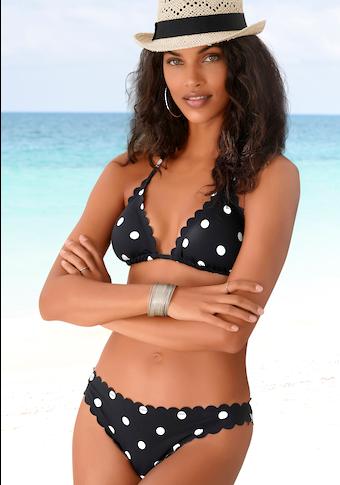 LASCANA Triangel-Bikini-Top »Jada«, mit Muschelkante und Pünktchen