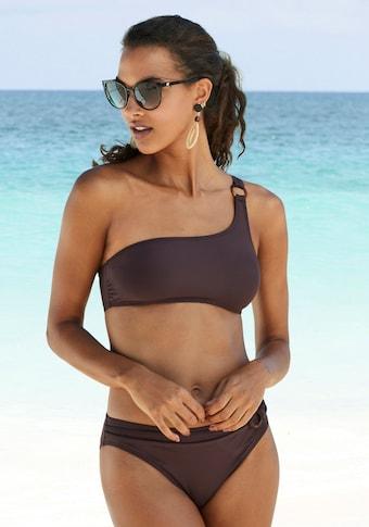 s.Oliver Beachwear Bikini-Hose »Rome«, mit Ziergürtel