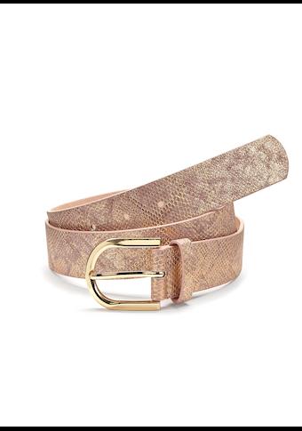 LASCANA Hüftgürtel, im Metallic-Look